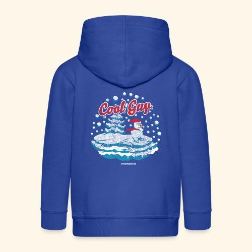 Apres Ski T Shirt cooler Schneemann beim Wintersport - Kinder Premium Kapuzenjacke