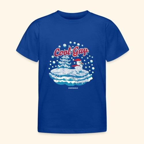 Apres Ski T Shirt cooler Schneemann beim Wintersport - Kinder T-Shirt