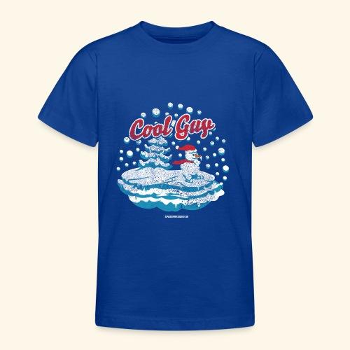 Apres Ski T Shirt cooler Schneemann beim Wintersport - Teenager T-Shirt