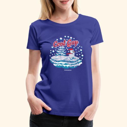 Apres Ski T Shirt cooler Schneemann beim Wintersport - Frauen Premium T-Shirt
