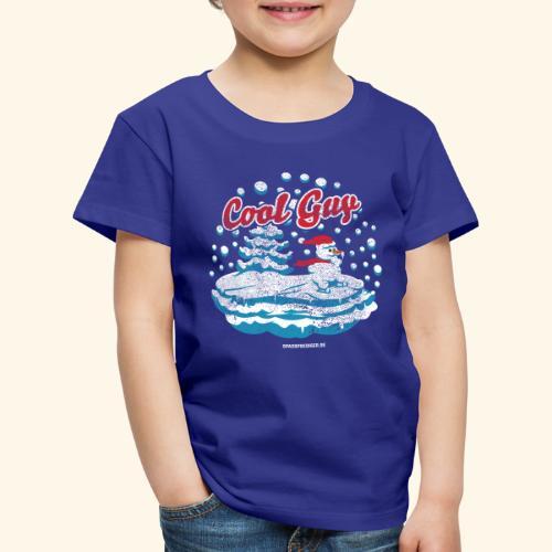Apres Ski T Shirt cooler Schneemann beim Wintersport - Kinder Premium T-Shirt