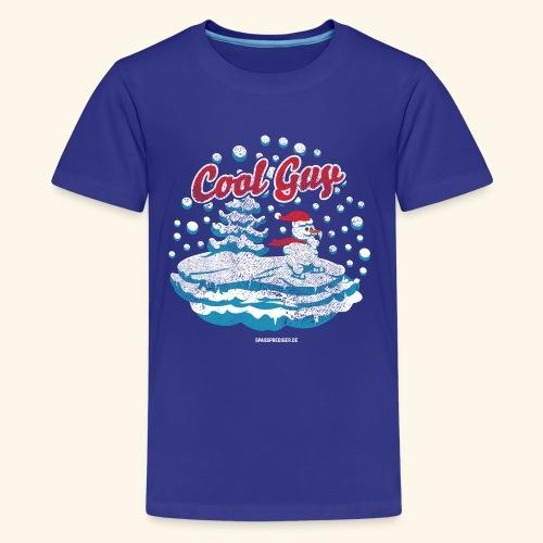 Apres Ski T Shirt cooler Schneemann beim Wintersport - Teenager Premium T-Shirt