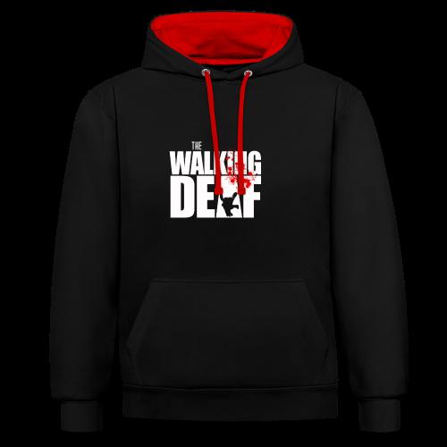 The Walking Deaf - Kontrast-Hoodie