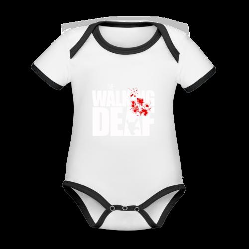 The Walking Deaf - Baby Bio-Kurzarm-Kontrastbody