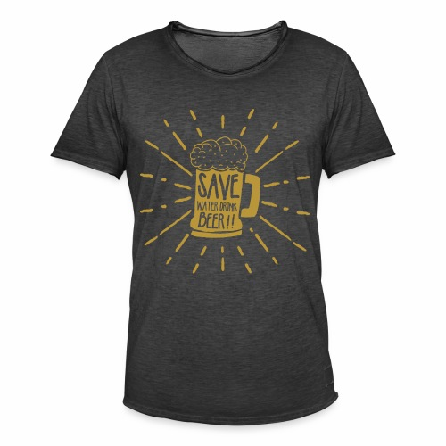 Save Water - Männer Vintage T-Shirt