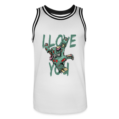 I love You Zombie - Männer Basketball-Trikot