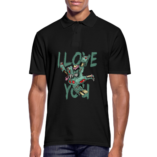 I love You Zombie - Männer Poloshirt