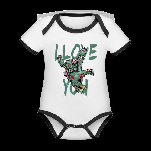 I love You Zombie - Baby Bio-Kurzarm-Kontrastbody
