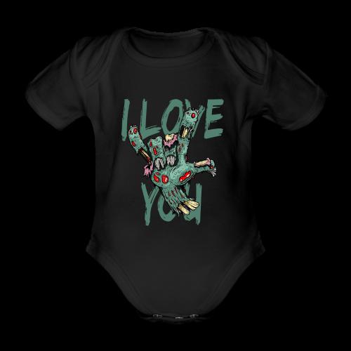 I love You Zombie - Baby Bio-Kurzarm-Body