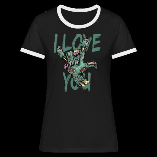 I love You Zombie - Frauen Kontrast-T-Shirt