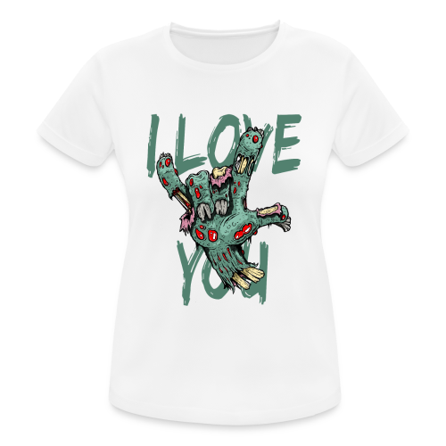 I love You Zombie - Frauen T-Shirt atmungsaktiv