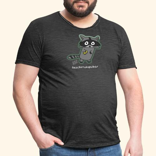 Geschirrabspülbär - Männer Vintage T-Shirt