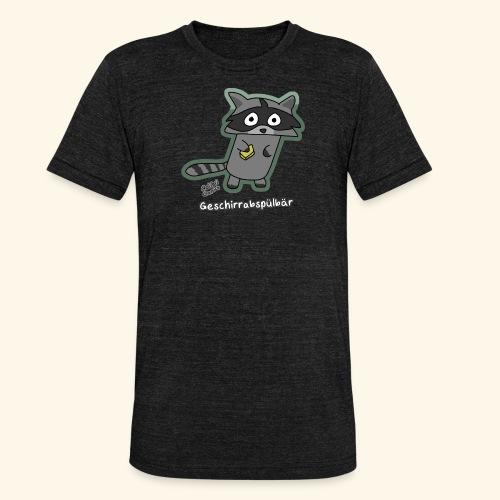 Geschirrabspülbär - Unisex Tri-Blend T-Shirt von Bella + Canvas