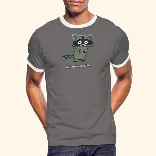 Geschirrabspülbär - Männer Kontrast-T-Shirt