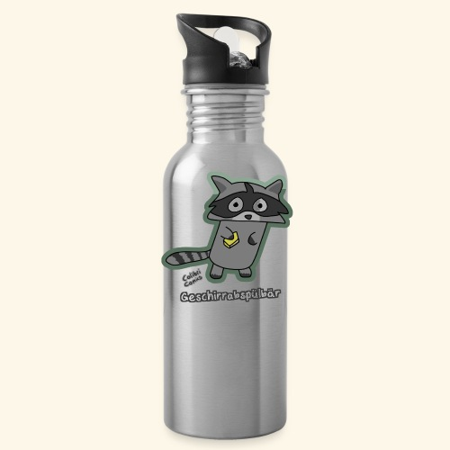 Geschirrabspülbär - Trinkflasche