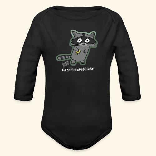 Geschirrabspülbär - Baby Bio-Langarm-Body