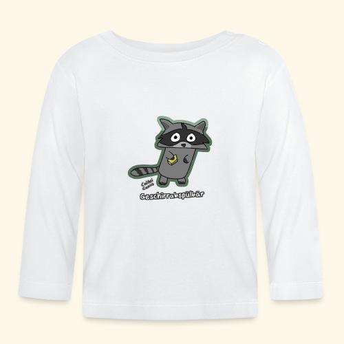Geschirrabspülbär - Baby Langarmshirt