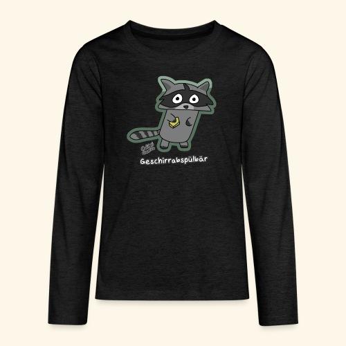 Geschirrabspülbär - Teenager Premium Langarmshirt