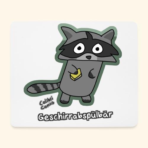 Geschirrabspülbär - Mousepad (Querformat)