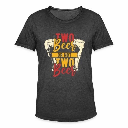 Two Beer - Männer Vintage T-Shirt