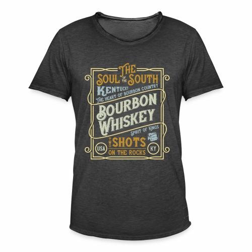 Bourbon Whiskey - Männer Vintage T-Shirt