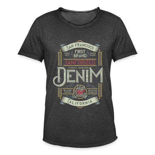 Sanforized Denim - Männer Vintage T-Shirt