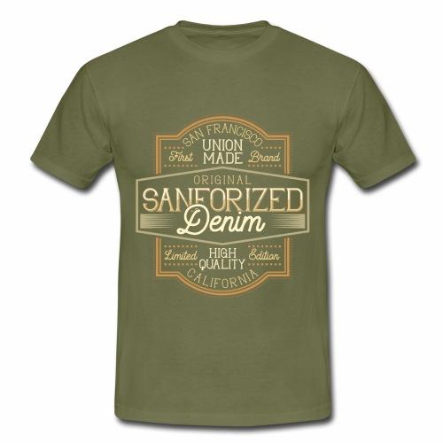 Sanforized Denim - Männer T-Shirt