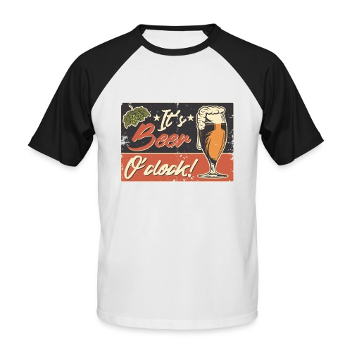 It´s Bier O´Clock - Männer Baseball-T-Shirt
