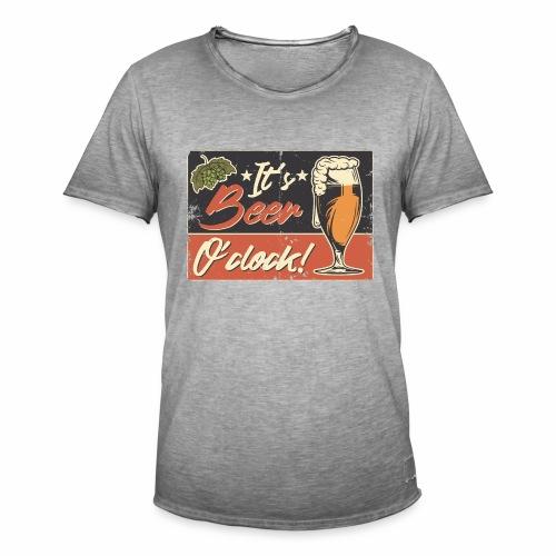 It´s Bier O´Clock - Männer Vintage T-Shirt