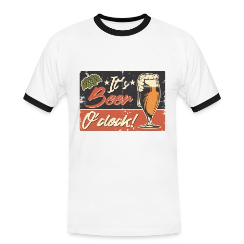 It´s Bier O´Clock - Männer Kontrast-T-Shirt