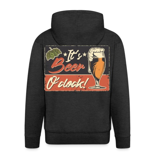 It´s Bier O´Clock - Männer Premium Kapuzenjacke