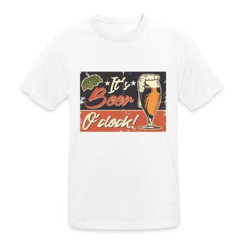 It´s Bier O´Clock - Männer T-Shirt atmungsaktiv