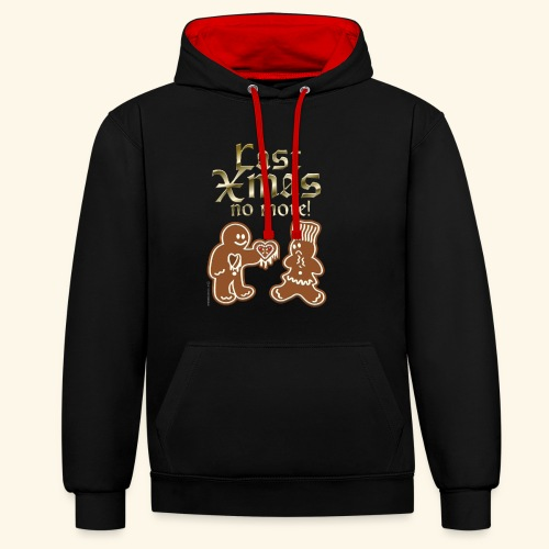 Weihnachts T Shirt Last Xmas - Geschenkidee - Kontrast-Hoodie