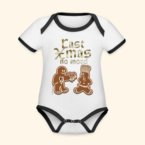 Weihnachts T Shirt Last Xmas - Geschenkidee - Baby Bio-Kurzarm-Kontrastbody