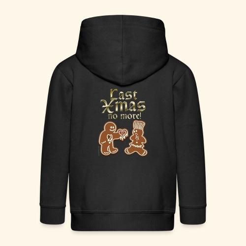 Weihnachts T Shirt Last Xmas - Geschenkidee - Kinder Premium Kapuzenjacke
