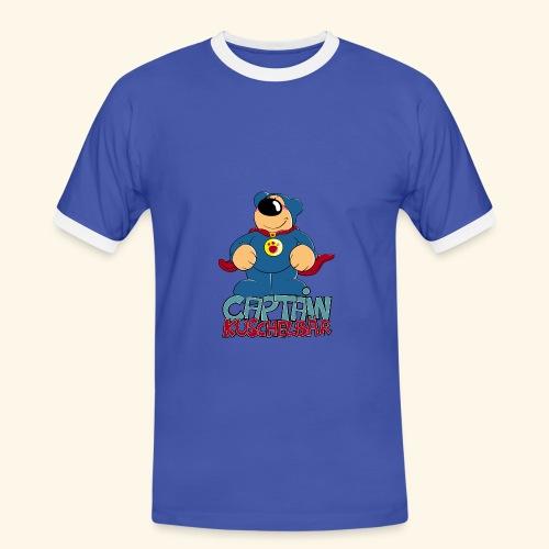 Captain Kuschelbär - Männer Kontrast-T-Shirt