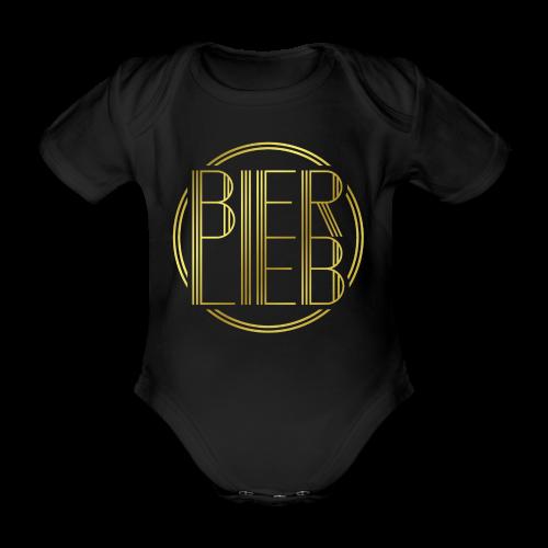 Bierlieb Bier Liebe Gold - Baby Bio-Kurzarm-Body