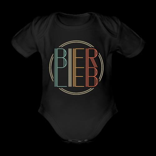 Bierlieb Bier Liebe Retro - Baby Bio-Kurzarm-Body