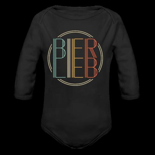 Bierlieb Bier Liebe Retro - Baby Bio-Langarm-Body