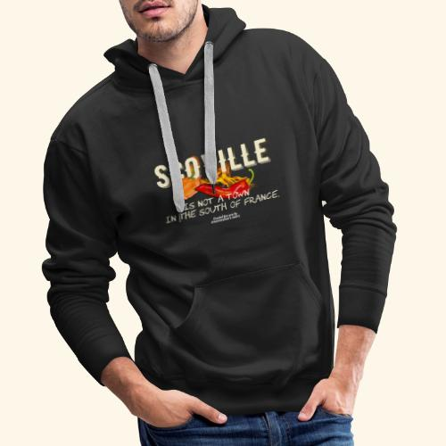 Scoville ist not a town in France T Shirt for Chili Geeks - Männer Premium Hoodie