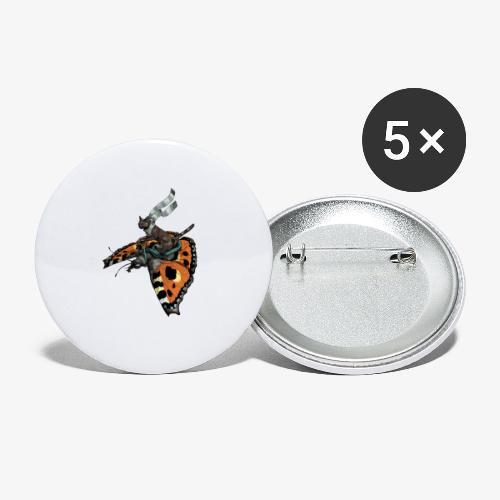 Tortoiseshell Flyers - Buttons large 2.2''/56 mm(5-pack)