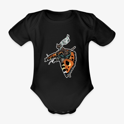 Tortoiseshell Flyers - Organic Short-sleeved Baby Bodysuit