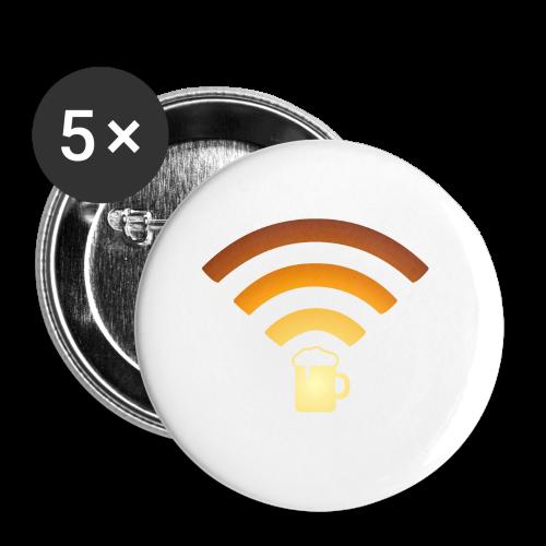 Bier Beer WLAN Wifi - Buttons klein 25 mm