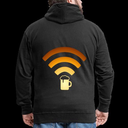 Bier Beer WLAN Wifi - Männer Premium Kapuzenjacke