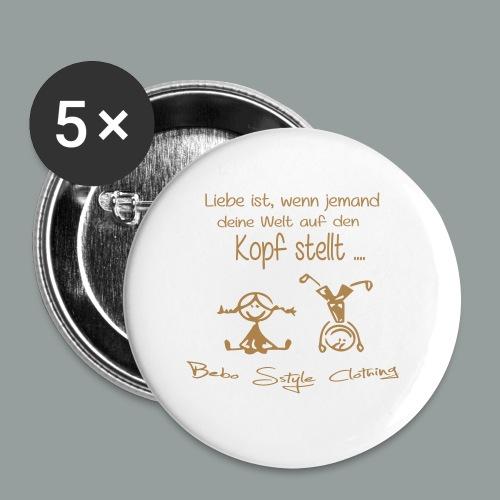 Liebe ist ... - Buttons groß 56 mm (5er Pack)
