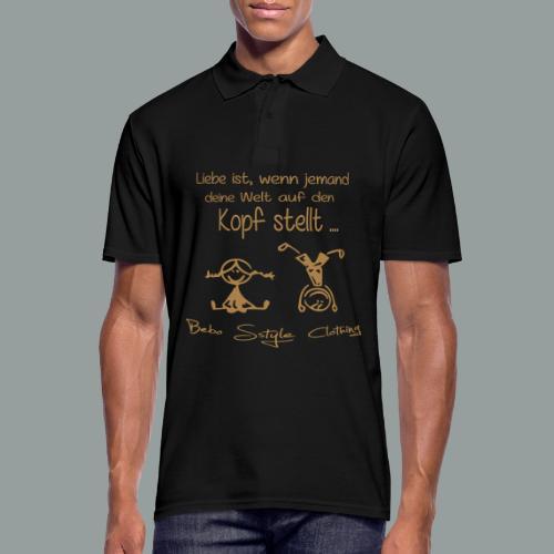 Liebe ist ... - Männer Poloshirt