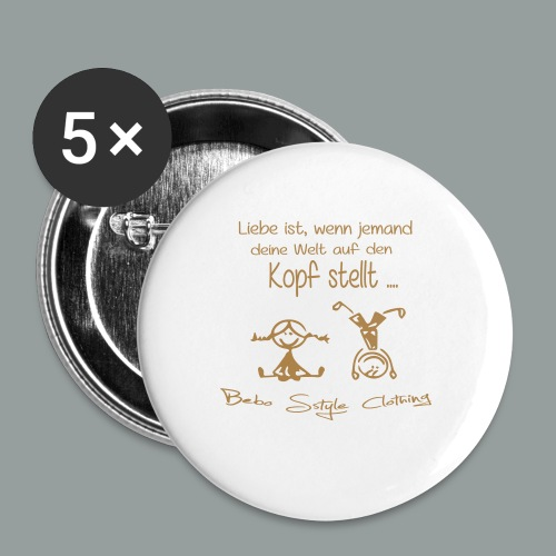 Liebe ist ... - Buttons mittel 32 mm (5er Pack)