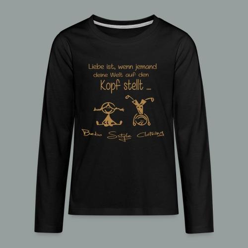 Liebe ist ... - Teenager Premium Langarmshirt