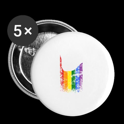 ILY Regenbogen Handsign - Buttons groß 56 mm