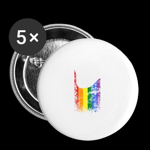 ILY Regenbogen Handsign - Buttons mittel 32 mm